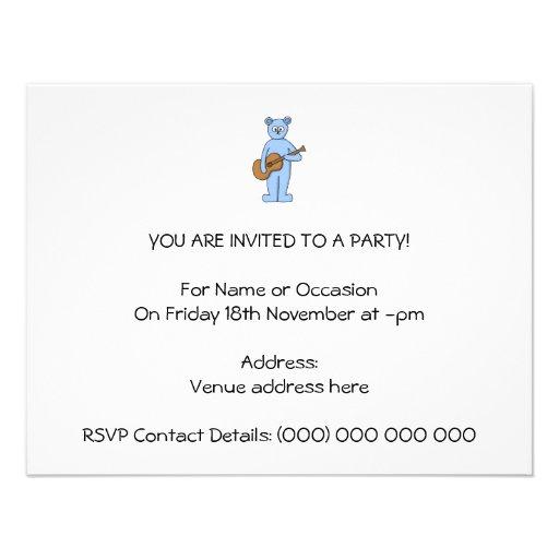 Urso do guitarrista convites