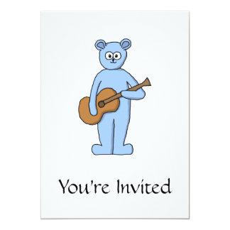 Urso do guitarrista convite 12.7 x 17.78cm