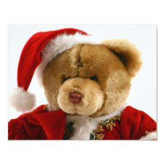 urso do Natal Convite 10.79 X 13.97cm