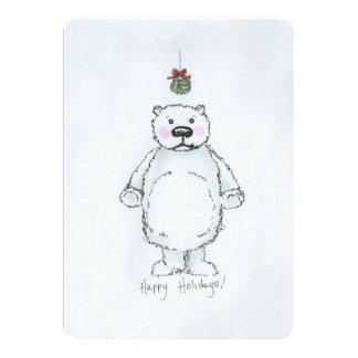Urso do visco convite 12.7 x 17.78cm