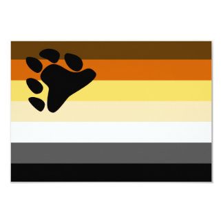 Urso e bandeira do orgulho gay da comunidade LGBT Convite Personalizados