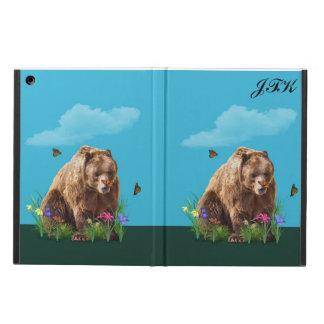 Urso e borboletas, monograma customizável