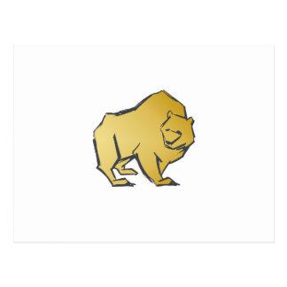 Urso elegante luxuoso do ouro cartão postal