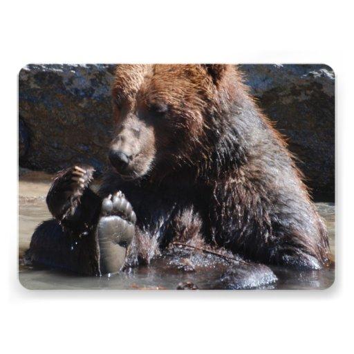 Urso embebendo convites personalizado