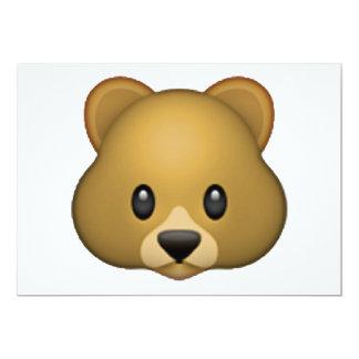 Urso - Emoji Convite 12.7 X 17.78cm