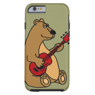 Urso engraçado que joga o caso do iPhone 6 da Capa Tough Para iPhone 6