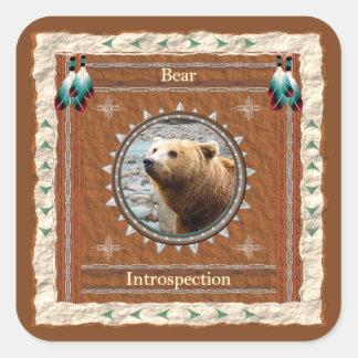 Urso - etiquetas da Introspecção - 20 por a folha