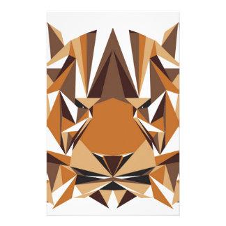 Urso geométrico papelaria