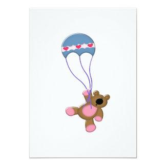 urso marrom do balão ausente da mosca convites personalizado