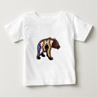 Urso nativo camiseta para bebê