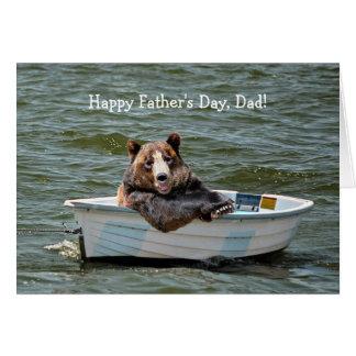 Urso no dia dos pais do bote cartao