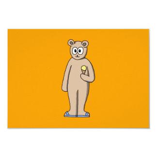 Urso no verão convite 8.89 x 12.7cm