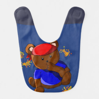 urso pirata babadores infantis