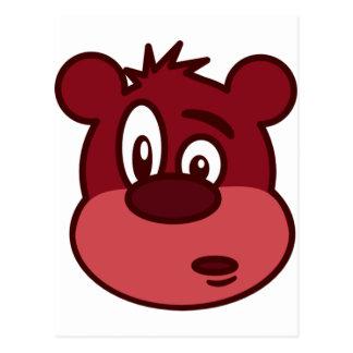 Urso pisc engraçado bonito cartão postal