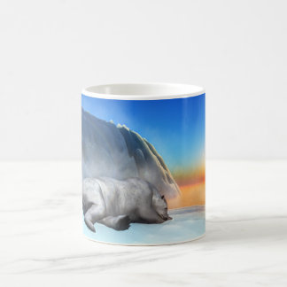 Urso polar - 3D rendem Caneca De Café