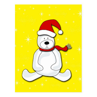 Urso polar - amarelo cartão postal