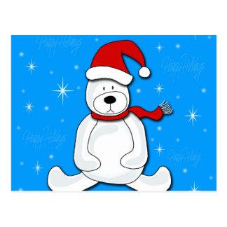 Urso polar azul cartão postal