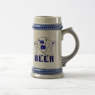 Urso polar caneca de cerveja