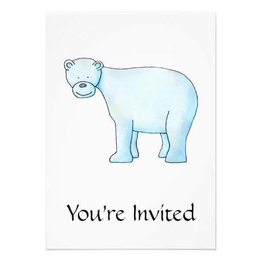 Urso polar convites