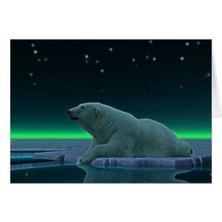 Urso polar da borda do gelo cartao