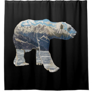 Urso polar da tundra cortina para chuveiro