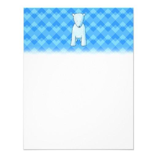 Urso polar do bebê bonito convites personalizados