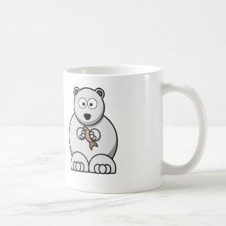 Urso polar dos desenhos animados - caneca de café