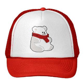Urso polar dos desenhos animados doces no lenço boné