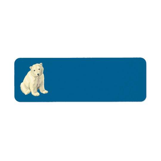 urso polar etiqueta endereço de retorno