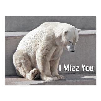 Urso polar mim senhorita Você Cartão Postal
