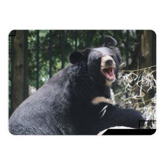 Urso preto convite 12.7 x 17.78cm