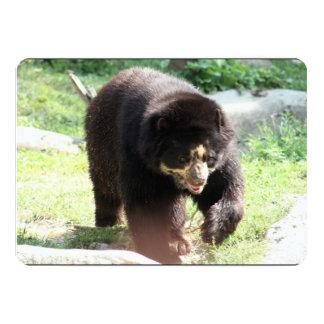 Urso preto convite personalizado