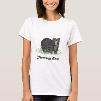 Urso preto do urso do Mama, camisa de t