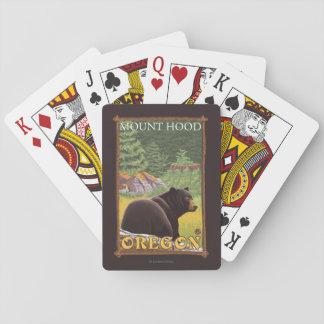 Urso preto na floresta - capa da montagem, Oregon Jogo De Baralho