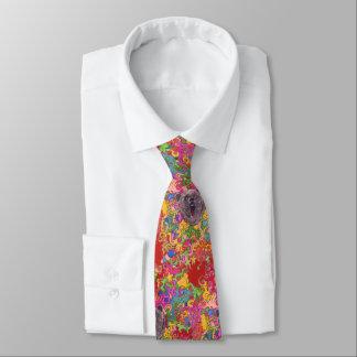 Urso psicadélico gravata
