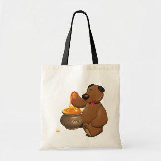 Urso que come a sacola do mel sacola tote budget