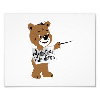 urso que guardara a folha music png impressão de fotos