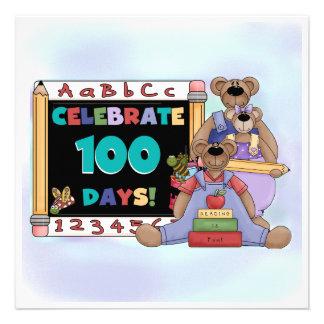 Ursos 100 dias da escola convites