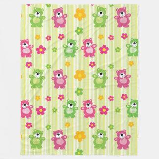 Ursos bonitos cobertor de lã