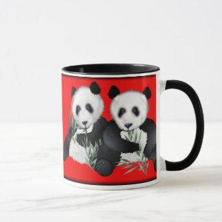 Ursos de panda gigante caneca