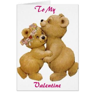 Ursos de ursinho bonitos da dança cartão