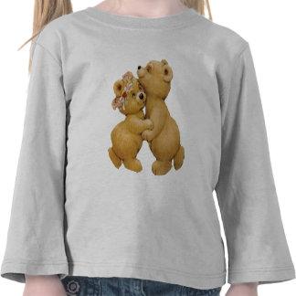 Ursos de ursinho bonitos da dança camisetas