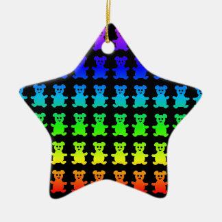 Ursos de ursinho psicadélicos ornamento de cerâmica