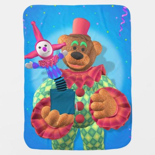 Ursos Dinky: Palhaço com Jack in the Box Cobertor Para Bebe