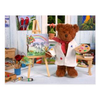 Ursos Dinky: Pintor pequeno Cartão Postal