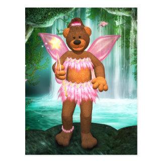 Ursos Dinky que Enchanting a fada Cartão Postal