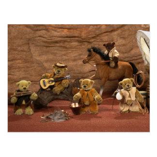 Ursos Dinky: Vida ocidental selvagem Cartão Postal