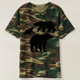 ursos do camo camiseta