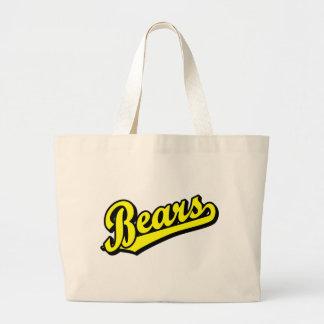 Ursos no amarelo bolsa para compra