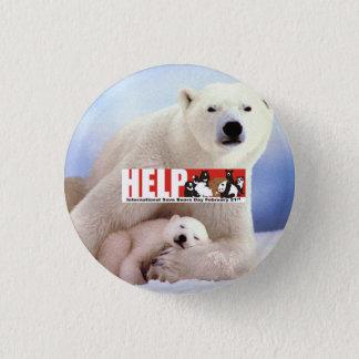 ursos polares da ajuda ISBD Bóton Redondo 2.54cm